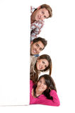 Banner ad - happy friends Royalty Free Stock Images