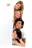 Banner ad - happy friends Stock Photography