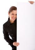 Banner ad woman Stock Photo