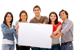 Banner add - group of friends Royalty Free Stock Images