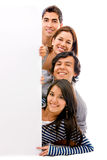 Banner add - happy friends Royalty Free Stock Image
