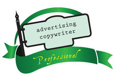 Banner advertising copywriter Stock Photography