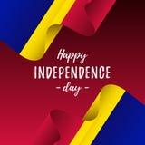 Banner of affiche van de viering van de de onafhankelijkheidsdag van Andorra De vlag van Andorra Vector illustratie vector illustratie