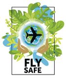 Banner for air safety Royalty Free Stock Images