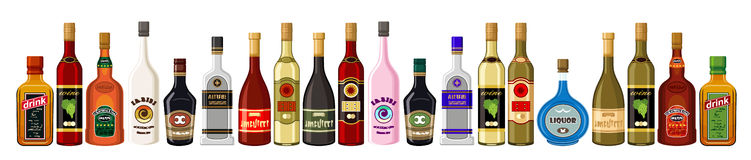 Banner alcoholic beverages. Stock Photos