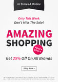 Banner Amazing Shopping vector illustration Stock Photo
