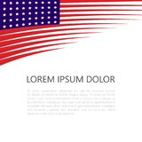 Banner with American national flag. Space for writing text. Vector illustration. Royalty Free Stock Photos