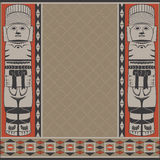 Banner with ancient American ornaments. Vector banner with ancient American ornaments Royalty Free Stock Photos