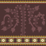 Banner with ancient American ornaments. Vector banner with ancient American ornaments Stock Image