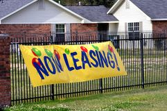 Banner announces leasing Stock Image