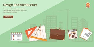 Banner for architecture and design Royalty Free Stock Photography