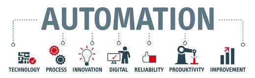 Free Banner Automation Concept Illustration With Icons And Key Stock Photo - 110055410