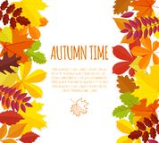 Banner with autumn foliage Stock Photography