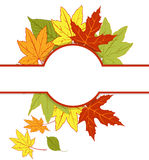 banner with autumn leaves Royalty Free Stock Photos