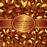 Banner with autumn leaves Stock Image