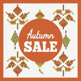 Banner for Autumn sale royalty free stock photography