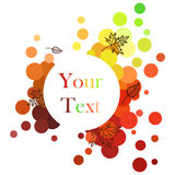Banner in autumnal colors. Round Colorful Banner in autumnal style stock illustration