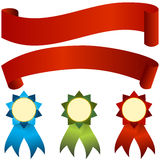 Banner Award Set Stock Photography