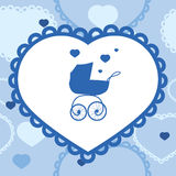 Banner with baby stroller Stock Image