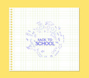 Banner back to school paper Royalty Free Stock Image
