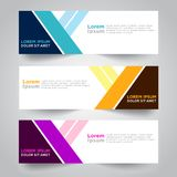 Banner background. Modern template vector design. Vector abstract design web banner template. Web Design Elements - Header Design. Abstract geometric web banner Stock Image