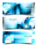 Banner Backgrounds for business card or corporate covers Stock Images