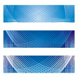 Banner Backgrounds with netting pattern. Header and, or banner designs in shades of blue gradient, accented with white/blue netting pattern - for use in website Royalty Free Stock Photo