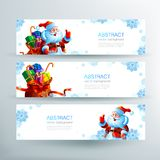 Banner with a bag of Christmas gifts Royalty Free Stock Image