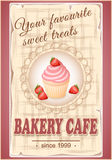 Banner bakery cafe Stock Photography