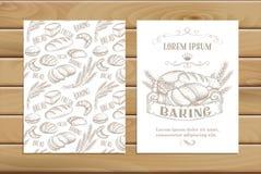 Banner  baking  hand drawn Stock Photos