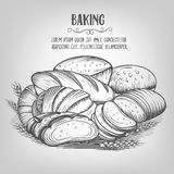 Banner  baking  hand drawn Royalty Free Stock Images