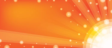 Banner ball orange Royalty Free Stock Images