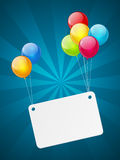 Banner with balloons Stock Image