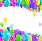 Banner of balloons. Banner of bright colorful balloons Stock Image