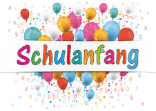 Banner Balloons Letters Numbers Schulanfang Stock Images