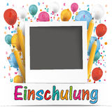 Banner Balloons Letters Photo Einschulung Stock Images