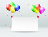 Banner and balloons Stock Image