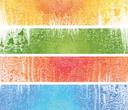 Banner banners. Abstract painted web banner in 4 color options. Banner easy to resize or change color Stock Image
