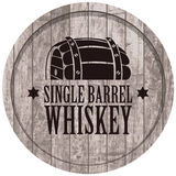 Banner with a barrel of whiskey in retro style Royalty Free Stock Images