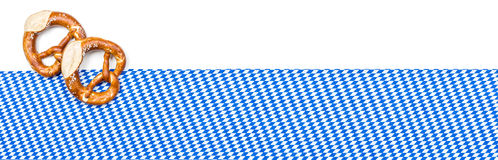 Banner with a bavarian decor Stock Photo