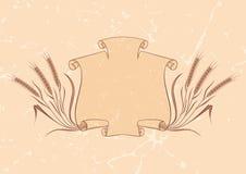 banner beżu pszenicy royalty ilustracja