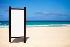 Banner at the beach Royalty Free Stock Images