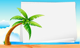 Banner with beach Stock Photography