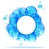 Banner of the beautiful bubbles. Stock Image