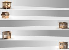 Banner bee house Stock Images