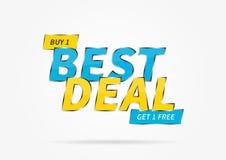 Banner Best Deal Buy Get 1 Free vector illustration Stock Image