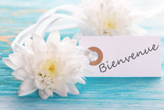 Banner with Bienvenue Stock Image