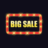 Banner Big Sale with shining lights Stock Photography