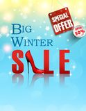 Banner big winter sale. Concept poster Royalty Free Stock Photos