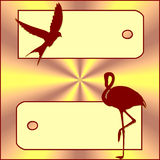 Banner birds. Illustration of 2 banner whit birds royalty free illustration
